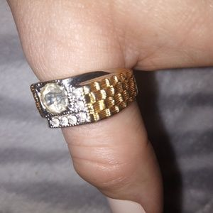 18 KGE gold and silver men's ring